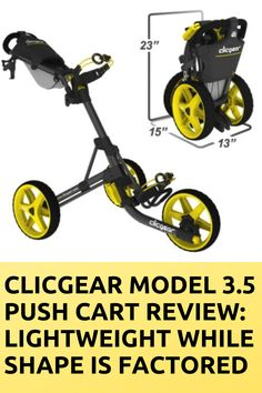 "In case, for some cause you have not heard of Clicgear model golf push carts, you require to get up to pace.  While we weigh of Clicgear, we weigh ""Cadillacs of the golf cart handicraft."" That's not to tell there are no other better golf push carts in the sport, we only trust the Clicgear model 3.5 golf cart is that proper.By this Clicgear Model 3.5 Push Cart Review, you can gain some good knowledge about it. Golf Push Cart, Golf Carts, Handicraft, Gain, How To Find Out, Trust, Knowledge, Sports, Model"