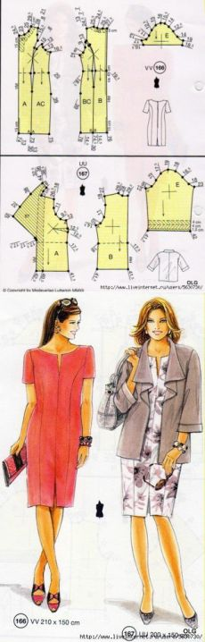 sewing project: The dress and jacket schemes... ♥ Deniz ♥