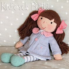 I crochet dolls for request. If you want to order a doll, write to me.I don't sell any instruction how to make my toys. Doll Patterns, Knitting Patterns, Crochet Patterns, Crochet Art, Crochet For Kids, Knitted Dolls, Crochet Dolls, Doll Toys, Baby Dolls