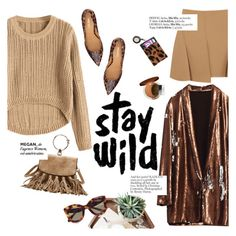 """Stay wild"" by punnky ❤ liked on Polyvore featuring CÉLINE, Alexander Wang, Nine West, Prada and Garance Doré"