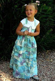 A Couple of Craft Addicts: Sundress Series-Pintuck Ruffled Maxi Dress