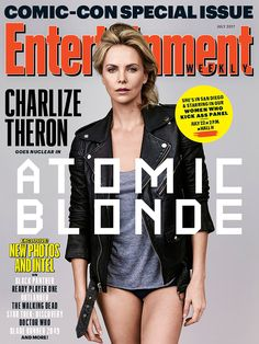 Comic-Con #Charlize Theron kicking off EW s 'Women Who Kick Ass panel #Celebrity #charlize #comic #kicking #panel