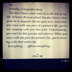 Thirteen Reasons Why quote - it is so true, watch what you say:)