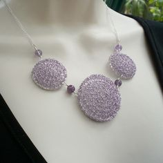Hey, I found this really awesome Etsy listing at https://www.etsy.com/listing/51302076/amethyst-wire-crochet-necklace-lacy-hand