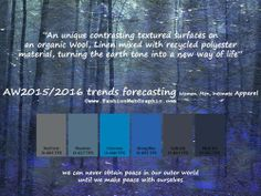 AW2015/2016 trends forecasting for Women, Men, Intimate Apparel - An unique contrasting textured surfaces on an organic Wool, Linen mixed wi...