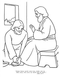 jesus washes disciples feet