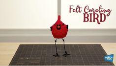 Easy DIY Felt Caroling Bird - Make It: Fun Crafts
