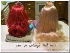 How to detangle doll hair.