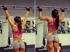 I don't know who works out in this but I want her hamstrings.