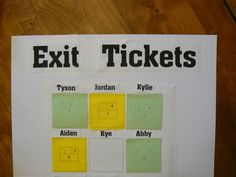 Here's a fabulous post on exit tickets in math with a huge number of assessment forms.