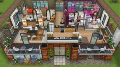 Modern design home for the Justice family - front second floor - in my Sims Freeplay.