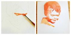 learn how to create your own watercolor portraits with these easy-to-follow steps!