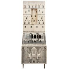 A Rare and Early Trumeau by Piero Fornasetti, Collaborating with Gio Ponti. | From a unique collection of antique and modern secretaires at https://www.1stdibs.com/furniture/storage-case-pieces/secretaires/