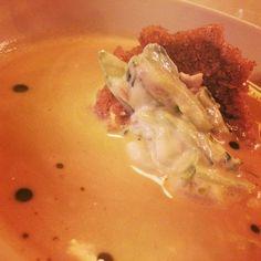 Gansleinmachsuppe #csencsits #lilasontour #ganslmenu #saibling #sterz #frischkäse #gurke