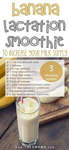 Looking for lactation smoothie recipes to increase your breast milk supply? - Looking for lactation smoothie recipes to increase your breast milk supply? Lots of smoothies and s - Breastfeeding Smoothie, Breastfeeding Snacks, Smoothie Recipes, Smoothies, Lactation Smoothie, Brownies, Increase Milk Supply, Brewers Yeast, Lactation Recipes