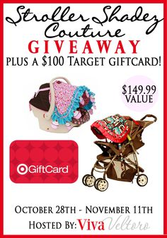 Win a $149 designer stroller cover from Stroller Shadez Couture + a $100 Target gift card! #baby #Giveaway