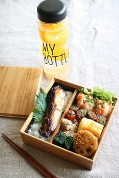 Japanese Bento Boxed Lunch 鯛の西京焼き弁当