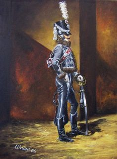 Sous-officier of 3rd Hussars, 1809, by Stefano Manni