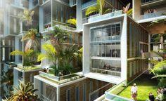 """Coral Reef"" futuristic #Eco Village by Vincent Callebaut"