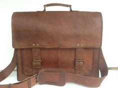 18 inch handmade leather broad pocket by HandmadeLeatherkomal, $95.00