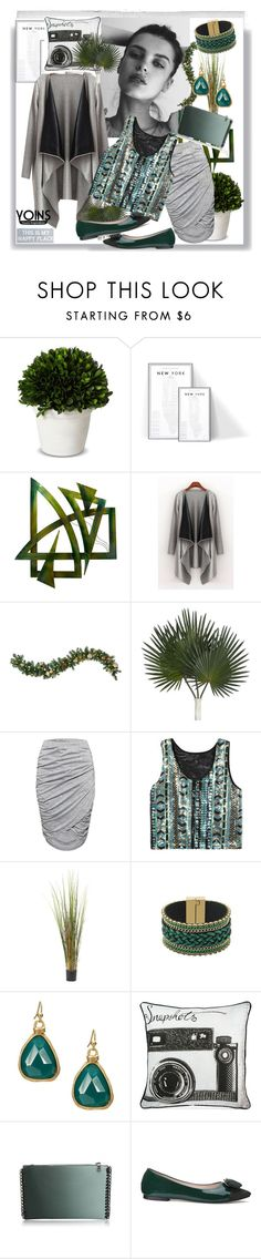 """Yoins contest"" by suncokret-12 ❤ liked on Polyvore featuring Polaroid, GE, Smith & Hawken, Universal Lighting and Decor, Nearly Natural, Graham & Brown, Pier 1 Imports, women's clothing, women and female"