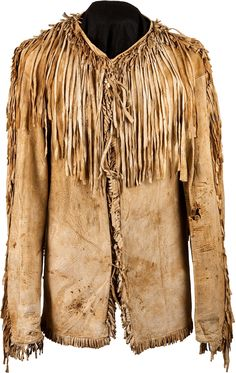 A PLAINS FRINGED HIDE SCOUT JACKET. c. 1880... American Indian   Lot #50097   Heritage Auctions