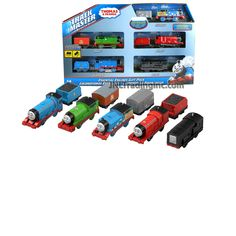 Thomas and Friends Trackmaster Motorized Railway Exclusive Essential Engines Gift Pack Train Set (CHG11) with Thomas, Percy, James, Gordon and Diesel