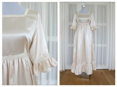Cotton Satin Wedding dress in vintage style size 38/40 made by Atelier Frantiska