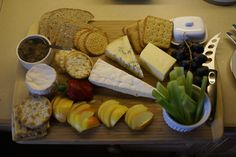 Yummy Cheese Board we did this weekend for one of our guests.   £8 per person - this board was for 2