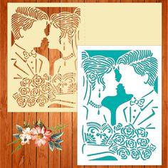 Invitación de la boda tarjeta plantilla novios by thehousedesigns