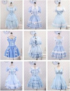 Pretty Outfits, Pretty Dresses, Beautiful Outfits, Cool Outfits, Beautiful Frocks, Kawaii Fashion, Lolita Fashion, Cute Fashion, Kawaii Dress