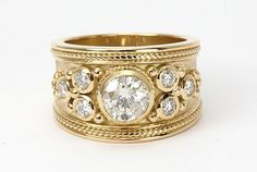 modern wide band engagement rings - Google Search