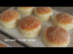 "Homemade Hamburger Buns – Classic & Big Mac ""Club"" – Just One Bite, Please? Homemade Hamburger Buns, Homemade Bagels, Homemade Hamburgers, Big Mac, Milk Bread Recipe, Homemade White Bread, Bakers Kitchen, Pork Buns, Bun Recipe"