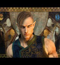 Vallaslin Elizzaria, elfo da aurora, segundo filho do Principe Mairshar, entrou para os Herossarins ainda novo e também para os Sentinelas das Brumas, alguns anos depois. Vallaslin raramente é visto na corte.