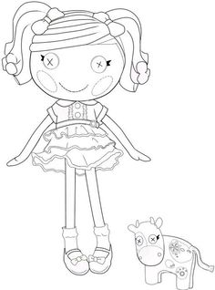 Lalaloopsy coloring page free. Awesome way to decorate for less $$$ :D