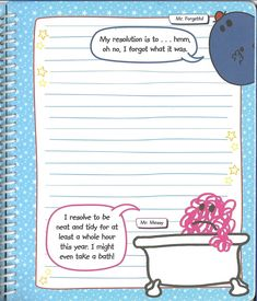 Men Little Miss: All Year Round - New Year's Day (Page This is perfect for planning New Year's resolutions, especially for Mr Men Little Miss, All Year Round, Take That, How To Plan, Resolutions, My Love, Day