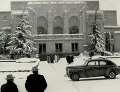 Maybe next year! // #Baylor University's Waco Hall in the snow, undated