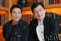 Jet Li and Jackie Chan Jackie Chan, Bruce Lee, Hapkido, Kung Fu, Martial Artists, Actrices Hollywood, Clint Eastwood, Asian Actors, Famous Faces