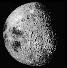 """""""That's no moon. It's a space station. """" said Obi wan Kenobi about the Death Star.The lower left part of the image shows a portion of the moon visible from Earth. The dark area at the 8:00 position on the edge is Mare Crisium. To the right of that is Mare Smythii. The upper right area shows the heavily cratered lunar far side. The Moon is 3475 km in diameter and North is at 10:30 in this image. (Image credit: NASA, image AS16-3021)"""