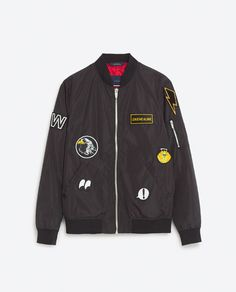 Image 8 of PATCH BOMBER JACKET from Zara