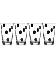 kate spade new york 4-Pc. All in Good Taste Deco Dot Glass Set | macys.com