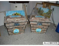 coolers made into treasure chests.