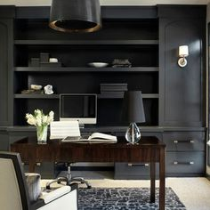 Home Office sophisticated Design Ideas, Pictures, Remodel and Decor
