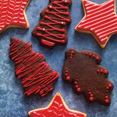 Chocolate Spice Cookies: These festive cookies make the perfect holiday gift. Chocolate Spice Cookies: These festive cookies make the perfect holiday gift. Galletas Cookies, Yummy Cookies, Holiday Cookies, Holiday Treats, Sugar Cookies, Delicious Cookie Recipes, Fun Easy Recipes, Veggie Recipes, Biscuit Ricardo