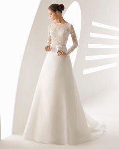 Beautiful wedding dresses by Rosa Clara in soft tulle, pretty lace and delicate beading available at Lilac Rose Bridal, Limerick. Rosa Clara Wedding Dresses, Wedding Dress Organza, Wedding Dress Sleeves, Modest Wedding Dresses, Designer Wedding Dresses, Bridal Dresses, Wedding Gowns, Bridesmaid Dresses, Organza Bridal