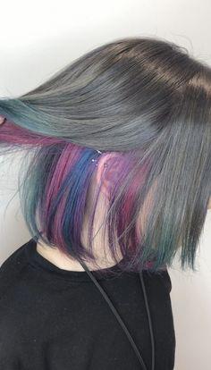 good looking winter hair colors 53 Underlights Hair, Aesthetic Hair, Coloured Hair, Dye My Hair, Cool Hair Color, Ombre Hair Color, Hair Looks, Pretty Hairstyles, Hair Inspiration