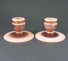 Vintage Fenton Glass Cameo Opalescent Candleholders #318 $SOLD!