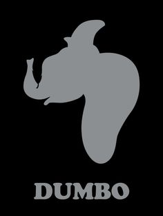 Dumbo, Disney Minimalist Poster. Do you see the feather?