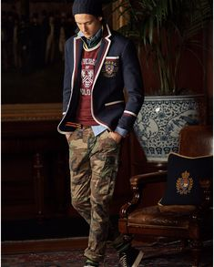 Ivy Trendwatch: Ralph Lauren's + University Collection Preppy Mens Fashion, Stylish Mens Outfits, Best Mens Fashion, Fashion Women, Estilo Ivy, Fashion Magazines Uk, Ivy Style, Men's Style, Preppy Style