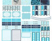 ON SALE Erin Condren Vertical Life Planner Printable Sticker Sheet Blue Ocean Stickers Print At Home Glam Planning Cute Stickers To Do To Wa